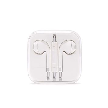 Silver & White Ear Buds