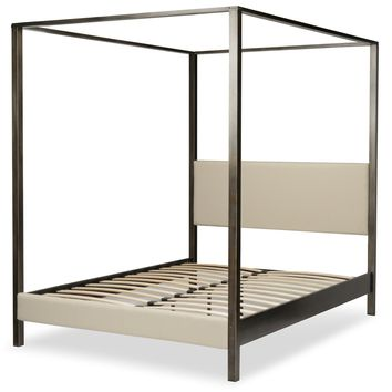 Castor Metal Canopy Bed