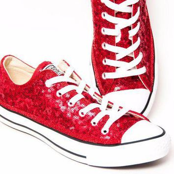DCKL9 Starlight Sequin Name Brand Canvas Low Tops