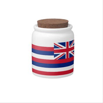 Hawaii State Flag Candy Jar