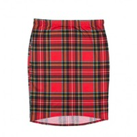 ROCK ON PLAID PENCIL SKIRT - WOMEN'S