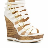Buckle Down Faux Wood Wedges