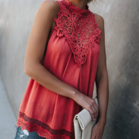 Women'S Sexy Lace Stitching Chiffon Blouse