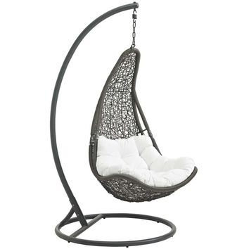 Gray White Abate Outdoor Patio Swing Chair
