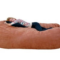 Cozy Sack 7-Feet Bean Bag Chair, X-Large, Rust:Amazon:Home & Kitchen