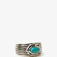 Etched Faux Turquoise Ring