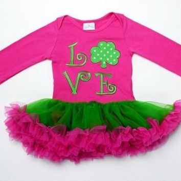 Infant St. Patrick's Day LOVE Tutu
