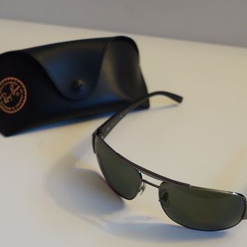Ray Ban Men's Sunglasses - Metal Frame - C/W Leather Case - Genuine
