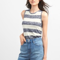 Softspun burnout stripe tank | Gap