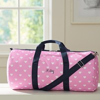 Mackenzie Pink Hearts Duffle Bag | Pottery Barn Kids