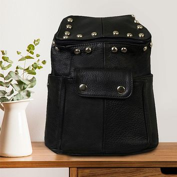 Chic Leather Backpack