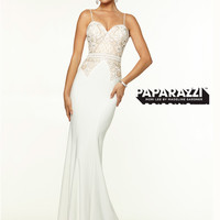 Sweetheart Beaded With Open Back Paparazzi Prom Dress By Mori Lee 97104