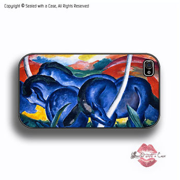 Franz Marc - Blue Horses Painting - iPhone 4 Case, iPhone 4s Case and iPhone 5 case