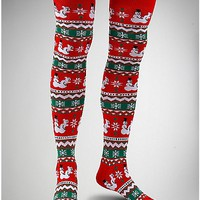 Humping Snowman Over The Knee Socks - Spencer's