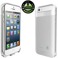 Alpatronix BX110 Extended Protective Rechargeable Battery Charging Case for iPhone 5 & iPhone 5S with Ultra Slim Removable External Battery Case / iOS 7+ Compatible features: 2000mAh Built-In Battery / Detachable Power Case / LED Indicator / Built-In Stand
