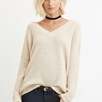 V-Neck Cutout Sweater