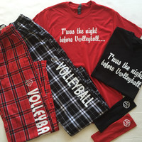 PJ Set Twas the Night Before Volleyball Gift Set On Sale Now!