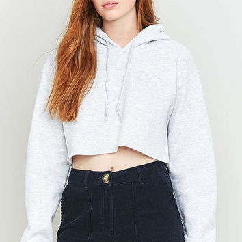 BDG Plain Cropped Hoodie - Urban Outfitters