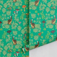Mushroom Forest Wallpaper  by Nathalie Lete Multi One Size Decor