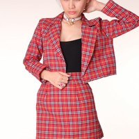 Made To Order - Red Tartan Blazer by GFD