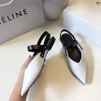 CELINE Celin 2018 spring new star net red with the same single shoes