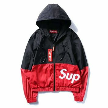 Supreme Fashion Hooded Zipper Cardigan Sweatshirt Jacket Coat Windbreaker Sportswear G-CN-CFPFGYS