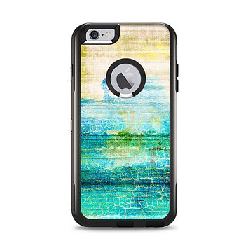 The Faded and Cracked Green Paint Apple iPhone 6 Plus Otterbox Commuter Case Skin Set