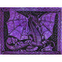 Purple Winged Dragon Full Tapestry