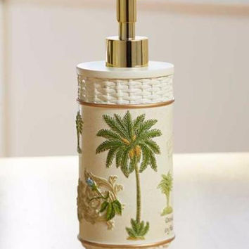 Soap Lotion Pump Palm Tree Tropical Ocean Sea Beach Decor Bathroom Accessory