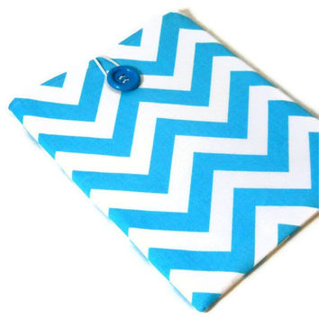 iPad Sleeve iPad 2 Cover Blue Chevron with by JHFabricCreations