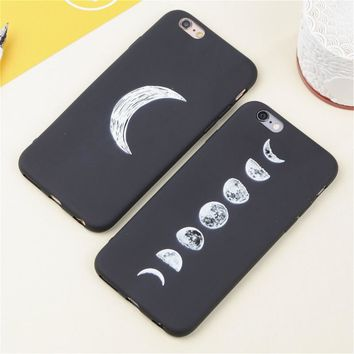 3D Relief Space Eclipse of the Moon Soft Slim Coque Case for IPhone 5 6 6s Silicone Ultra Thin Phone Cases Covers for iphone 5s