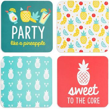Pineapple Punch (4 Piece) Coaster Set with Box