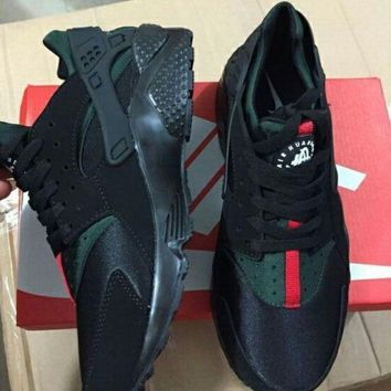 Nike Gucci Drops the Air Huarache Ultra Sports shoes Black&green G-AA-SDDSL-KHZHXMKH