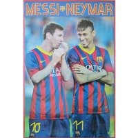 BARCELONA MESSI AND NEYMAR POSTER 2013