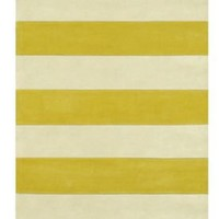 The American Home Rug Company Beach  Boardwalk Stripes Yellow Rug | Contemporary Rugs