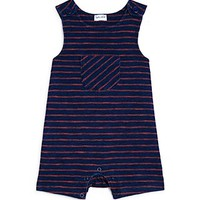 SplendidInfant Girls' Striped Romper - Sizes 3-24 Months