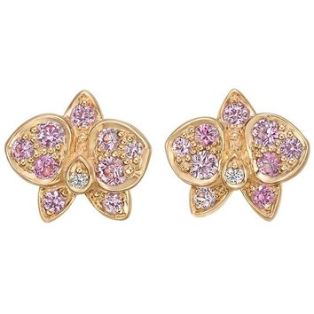 "Cartier Pink Sapphire Diamond ""Caresse d'Orchidées"" Earrings"