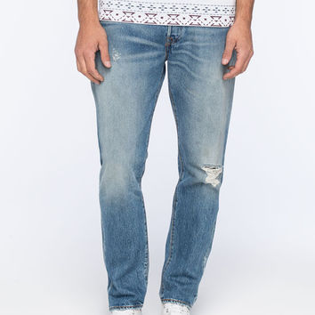 Levi's 501 Ct Red Church Mens Tapered Jeans Destructive  In Sizes