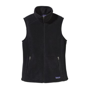 Patagonia Women's Simple Synchilla® Fleece Vest | Black