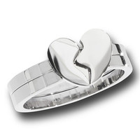 Two Piece Heart Ring