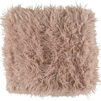 Kharaa Faux Fur Throw Pillow - Blush