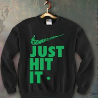 Just Hit It Unisex Crewneck Funny and Music