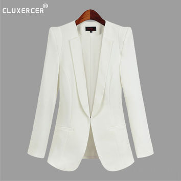 Plus Size 4XL blazer mujer 2017 Women Slim Work Blazer Women Coat Casual Office Suit Jacket Blazer Feminino