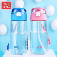 kids Water Bottle with Straw 500ml children water Cup Drinking for Water Bottles Portable Cartoon child Sport  pot  Brand Cup