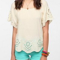 Staring at Stars Eyelet Trim Blouse