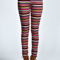 Darlene Aztec Brushed Knit Leggings