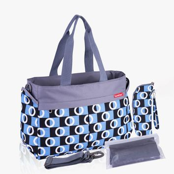 New multicolored maternity mother diaper bags.