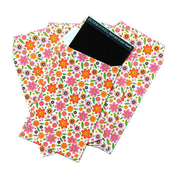 Mini Envelopes Paper Photo Sleeves Film Cover Orange Pink Flowers for Fujifilm Instax Mini Films Polaroid Instant Photos