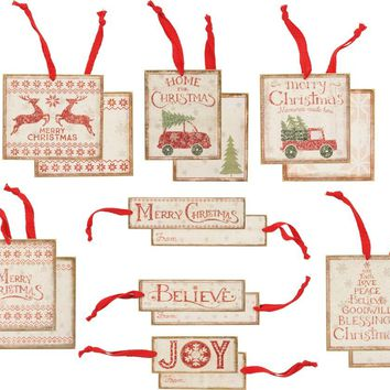 Christmas Wooden Gift Tags - 8 Styles