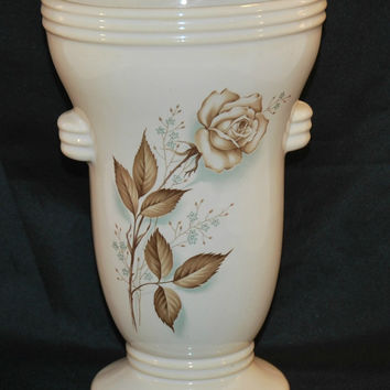 Vintage McCoy Pottery Vase Brown Antique Rose (c.1959) Collectible, Vintage Pottery, Gift Idea, Cottage, Farmhouse Chic, Family Heirloom